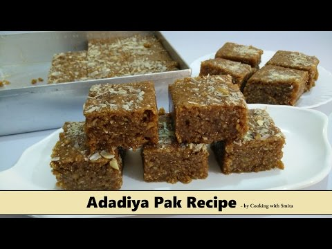 Adadiya Pak Recipe in Hindi by Cooking with Smita | Winter Special | Traditional Gujarati Recipe