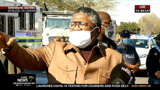 Transport Minister Fikile Mbalula is visiting Tshwane this Monday afternoon amid the taxi industry shutdown in the province. He is in Soshanguve.   For more news, visit sabcnews.com and also #SABCNews, #Coronavirus, #COVID19 on Social Media.