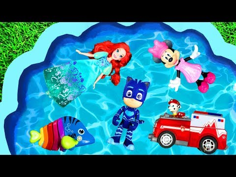 Learn Characters with Pj Masks, Barbie and Paw Patrol for Kids - Disney Toys for Toddlers