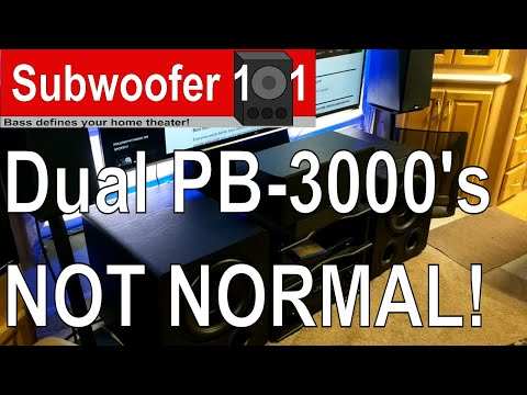REVIEW: Dual SVS PB-3000 and SB-3000 Subwoofers! THESE ARE NOT NORMAL!