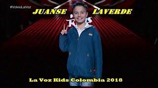 все выступления Juanse Laverde в La Voz Kids Colombia 2018.