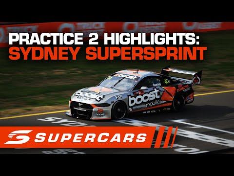SUPERCARS シドニースーパースプリント プラクティス2ハイライト動画