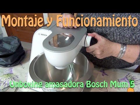 Unboxing amasadora Bosch Mum 5