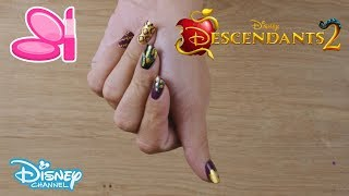 Descendants 2 | Mals Nail Art Tutorial | Official Disney Channel UK