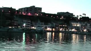 preview picture of video 'El puerto de Mahón, Menorca por la noche (Mahon port at night)'