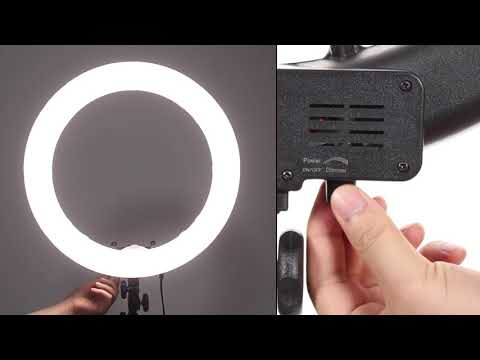 "18"" LED Ring Light 55W 3200K-5600K Dimmable Selfie Ring Light"
