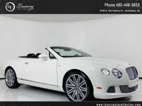 Pre-Owned 2014 Bentley Continental GT Speed Convertible in Glacier White