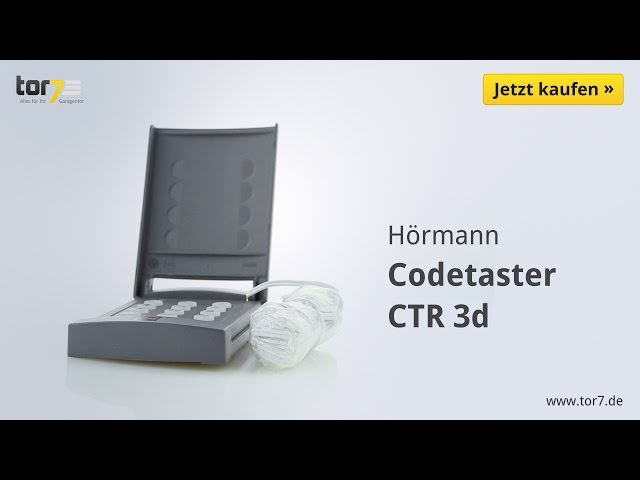 Produktvideo Hörmann Codetaster CTR 3d