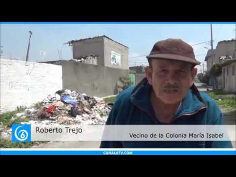 Vecinos de la colonia María Isabel en Valle de Chalco denuncian problemas con la basura