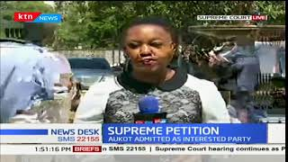 Supreme court proceedings: The scrutiny of forms 34 A, B and Cs at 3 p.m.