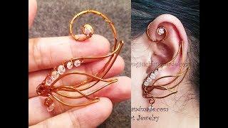 Angel Wing Ear Cuff - Wire Wrap Jewelry Design 71