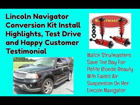 Lincoln Navigator With An Air Suspension Conversion By Strutmasters / Ride Along Video