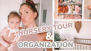 Baby Girl Nursery Room Tour and Baby Organization!!