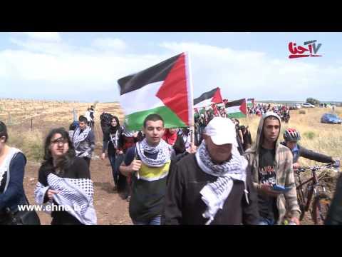 عشرات آلاف الفلسطينيين يعودون إلى قرية الحدثة المهجرة في مسيرة العودة الـ18