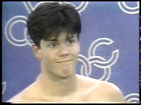 Olympics - 1984 - L A Games - Swimming - Donna de Varona Interviews USA 100m Backstroke Rick Carey