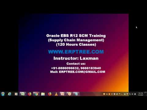 Oracle EBS R12 SCM Training   Demo   1st Session - YouTube
