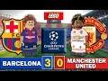 Barcelona 3 - 0 Manchester United - Futbol LEGO - Champions League Cuartos De Final 16/04/2019