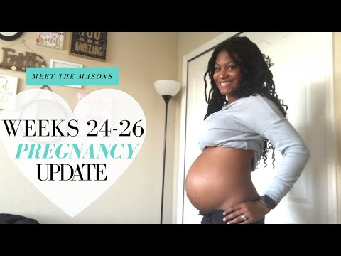 Pregnancy Update   WEEKS 24-26 Braxton Hicks, Searching for a Name & Jerred's Input!