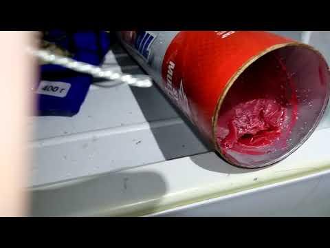 Тест пластичности смазок LM, Chevron, Huskey, Amsoil при -25