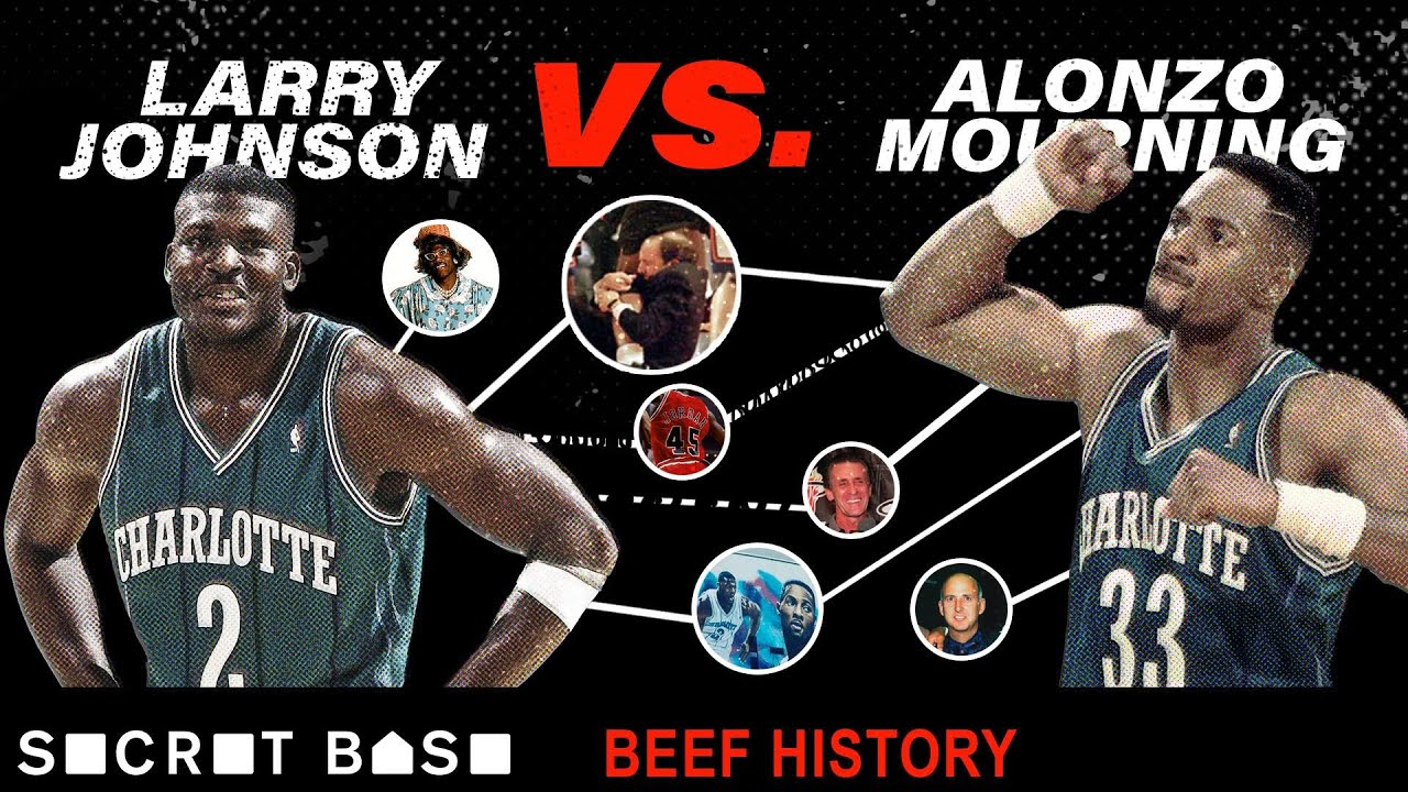 Larry Johnson's beef with Alonzo Mourning included a sad Hornets mural and a weird Knicks-Heat fight thumbnail