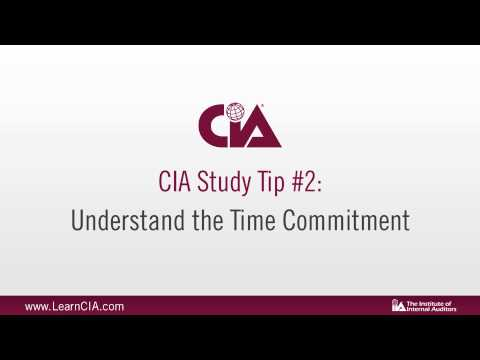 Certified Internal Auditor (CIA) Study Tips - YouTube