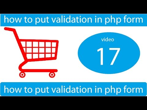 how to put validation in php form