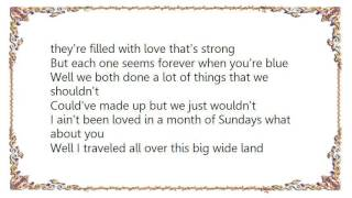 Charlie Louvin - Month of Sundays Lyrics