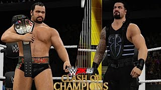 WWE Clash of Champions 2016: Rusev vs Roman Reigns (United States Championship)