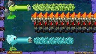 Plants vs Zombies Gatling Pea vs Snow Pea Hack vs Zombies