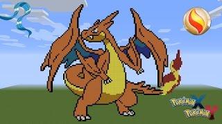 Minecraft Pixel Art Pokemon Charizard Y Mega Evolution Endlessvideo