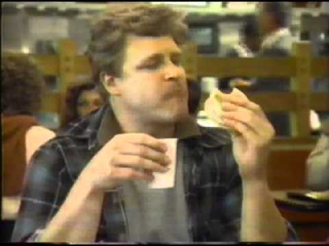 Megan Mullally (Karen from Will and Grace) and John Goodman in a McDonald's commercial from 1983