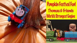 Pumpkin Festival Fun | Thomas And Friends World's Strongest Engine Toy Trains