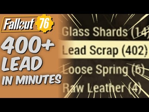 Fallout 76: Lead Resource Farming Locations! - смотреть