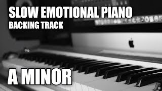 Slow Emotional Piano Backing Track In A Minor