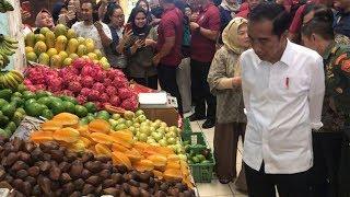 Jokowi Blusukan ke Pasar Modern di Bintaro