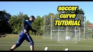 David Beckham CURVE TUTORIAL for FREE KICKS | HOW TO CURVE A SOCCER BALL