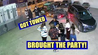 Two Hondas Get Towed, Epic Party & Concert Follows