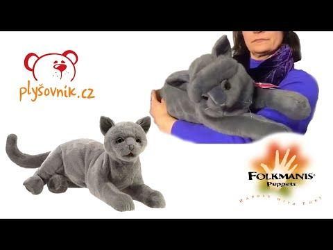 plyšová Vrnící britská krátkosrstá kočka