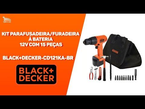Kit Parafusadeira/Furadeira a Bateria 12V Ni-Cd com Carregador Bivolt Bolsa e Acessórios - Video