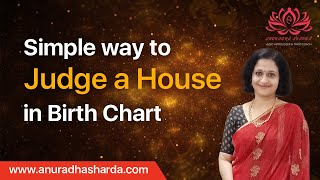 Simple Way to Judge a house in birth chart | How to interpret a horoscope | Basics of astrology