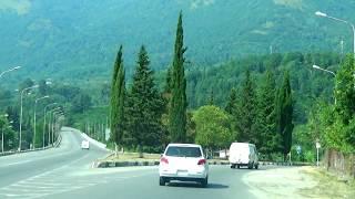 На машине по г.Гагра, Абхазия август 2017