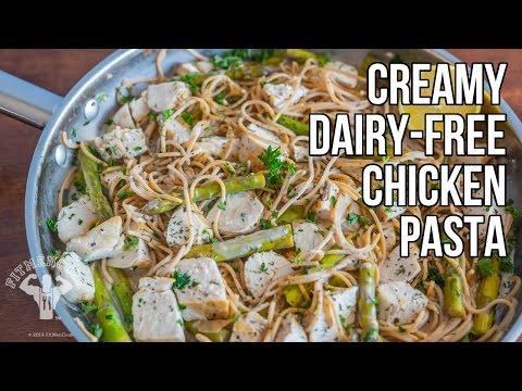 Video Creamy Dairy-Free Chicken Pasta / Pasta Cremosa de Pollo Sin Lácteos