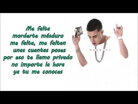 Copia de Te llame borracho Darkiel ft Jon Z (letra)