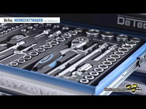 DeTec  Werkstattwagen inkl. Werkzeugsortiment