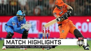 Adelaide out-class Scorchers despite Livingstone's six-frenzy | KFC BBL|09