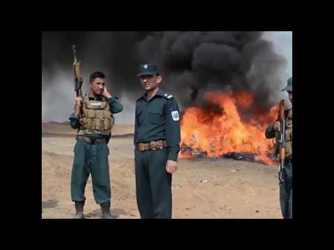 20 tons of drugs destroyed by police in Afghanistan
