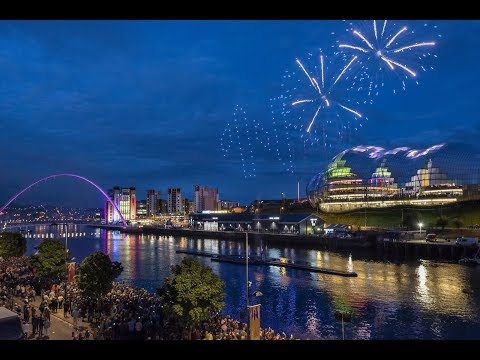 GREAT EXHIBITION OF THE NORTH OPENING CEREMONY | SKYMAGIC