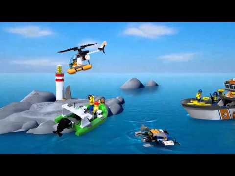 Vidéo LEGO City 60014 : La patrouille des garde-côtes