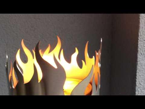 "Gartenfackel ""Flammen"" aus Edelstahl"