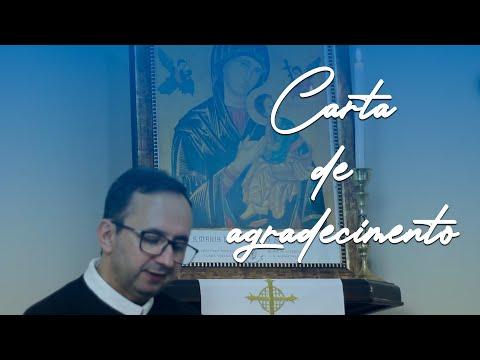Carta de Agradecimento - Pe. Celso Cruz